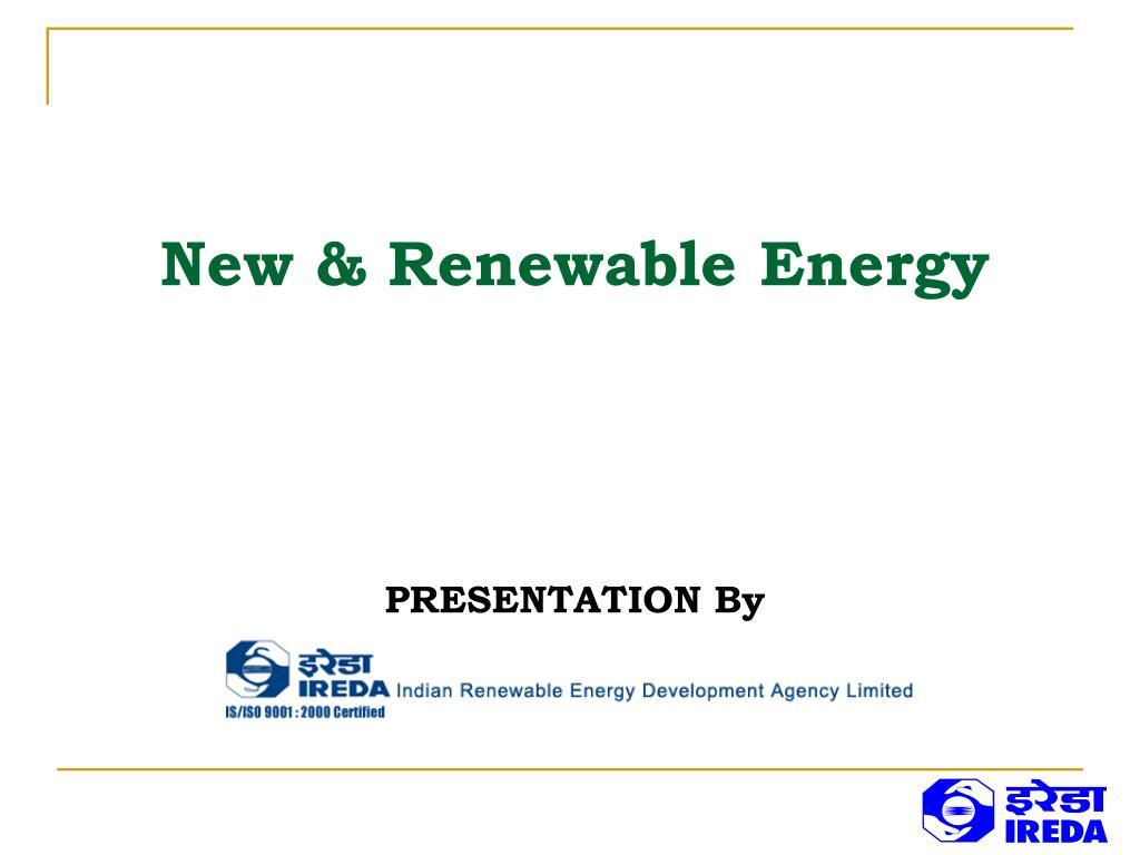 new renewable energy l.
