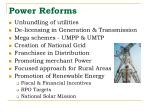 power reforms