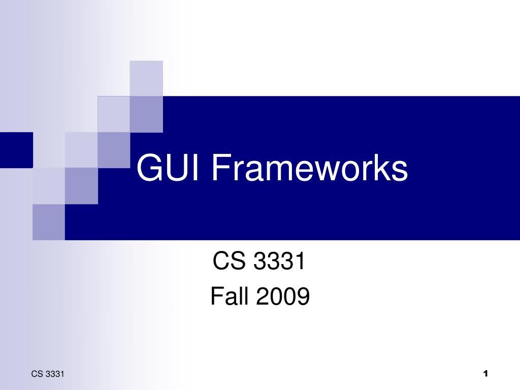 gui frameworks l.