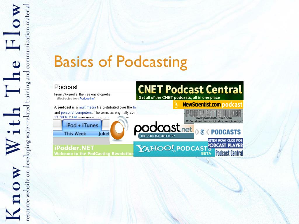 basics of podcasting l.