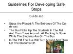 guidelines for developing safe stops13