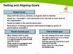 setting and aligning goals