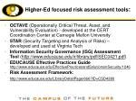 higher ed focused risk assessment tools