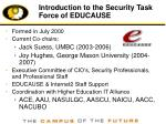 introduction to the security task force of educause