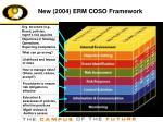 new 2004 erm coso framework