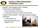outline of risk assessment framework cont