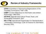 review of industry frameworks