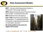 risk assessment models