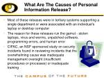 what are the causes of personal information release
