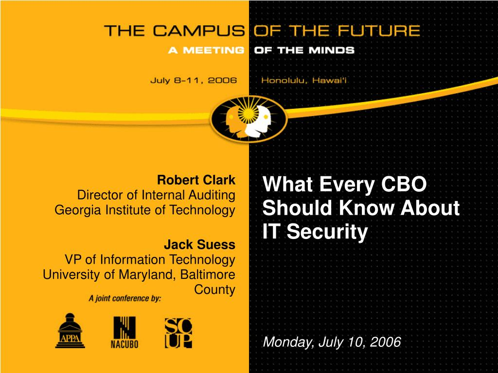 what every cbo should know about it security l.