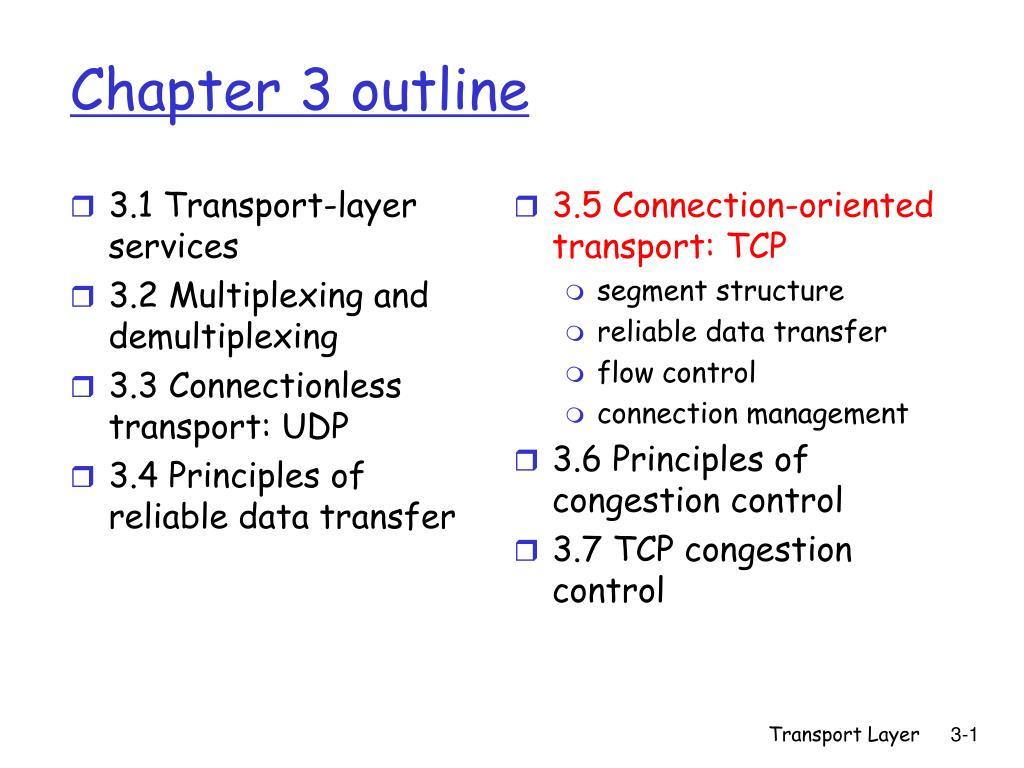 chapter 3 outline l.