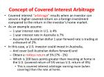 concept of covered interest arbitrage