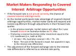 market makers responding to covered interest arbitrage opportunities