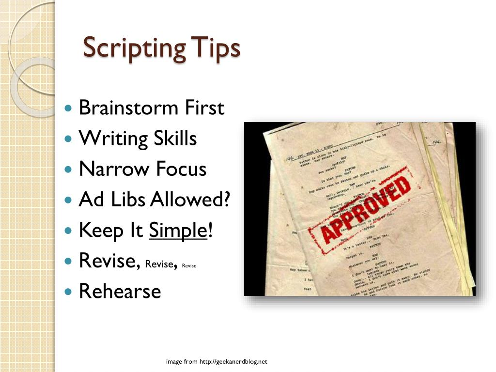 Scripting Tips