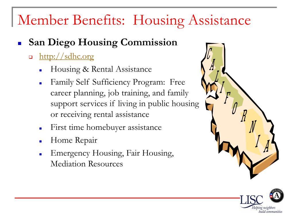 Member Benefits:  Housing Assistance
