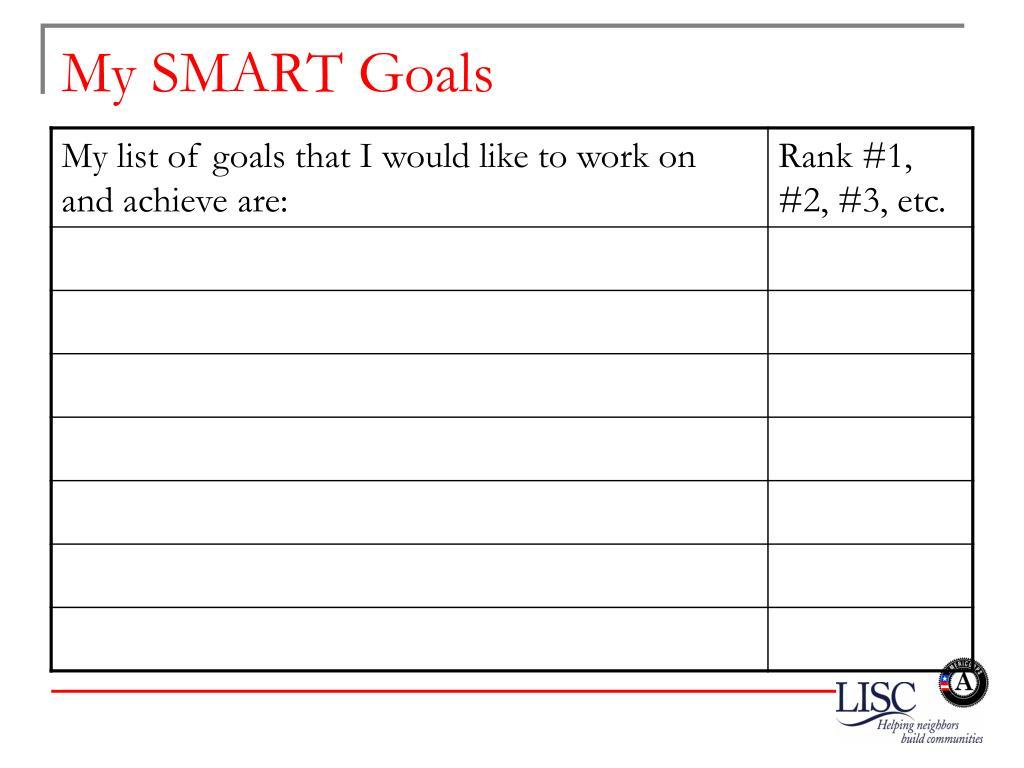 My SMART Goals