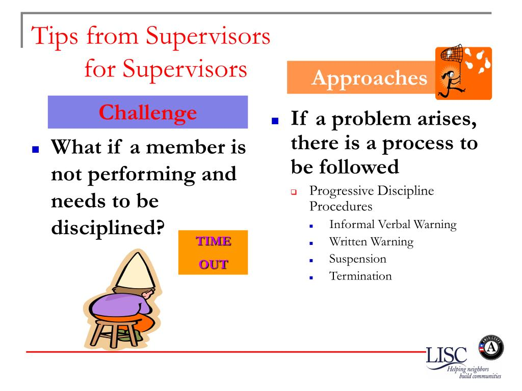 What if a member is not performing and needs to be disciplined?