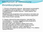 mechanism of nonimmune thrombocytopenia23