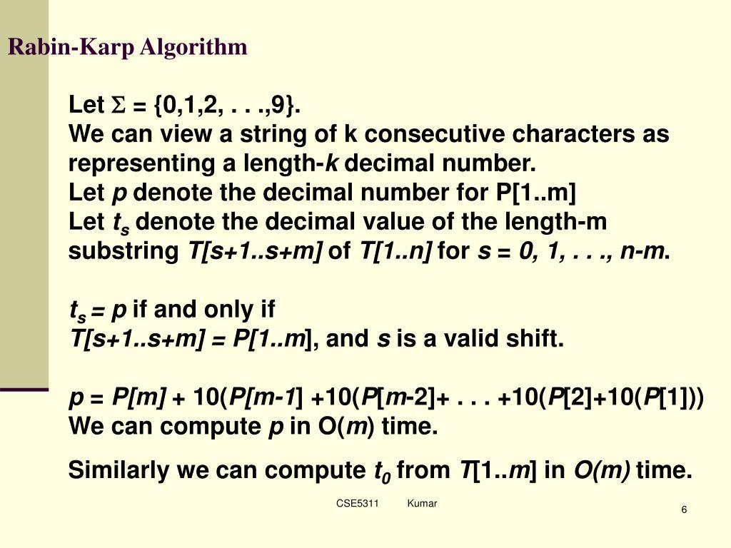 Rabin-Karp Algorithm