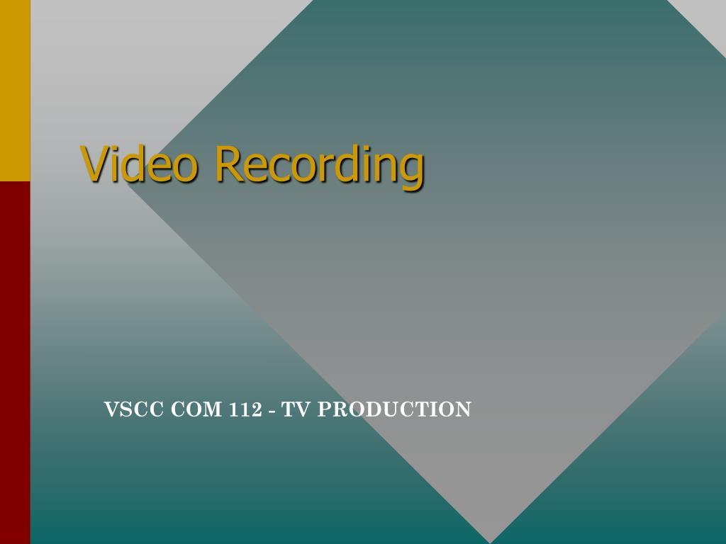 video recording l.