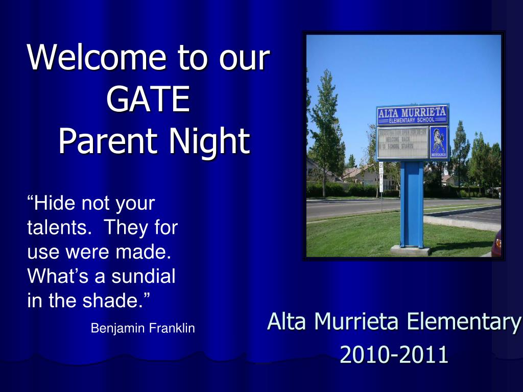 welcome to our gate parent night l.