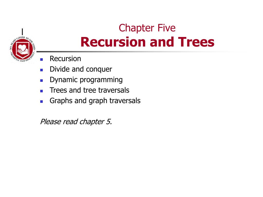 chapter five recursion and trees l.