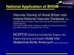 national application of bhom