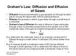graham s law diffusion and effusion of gases