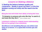 lessons on seeking a balance