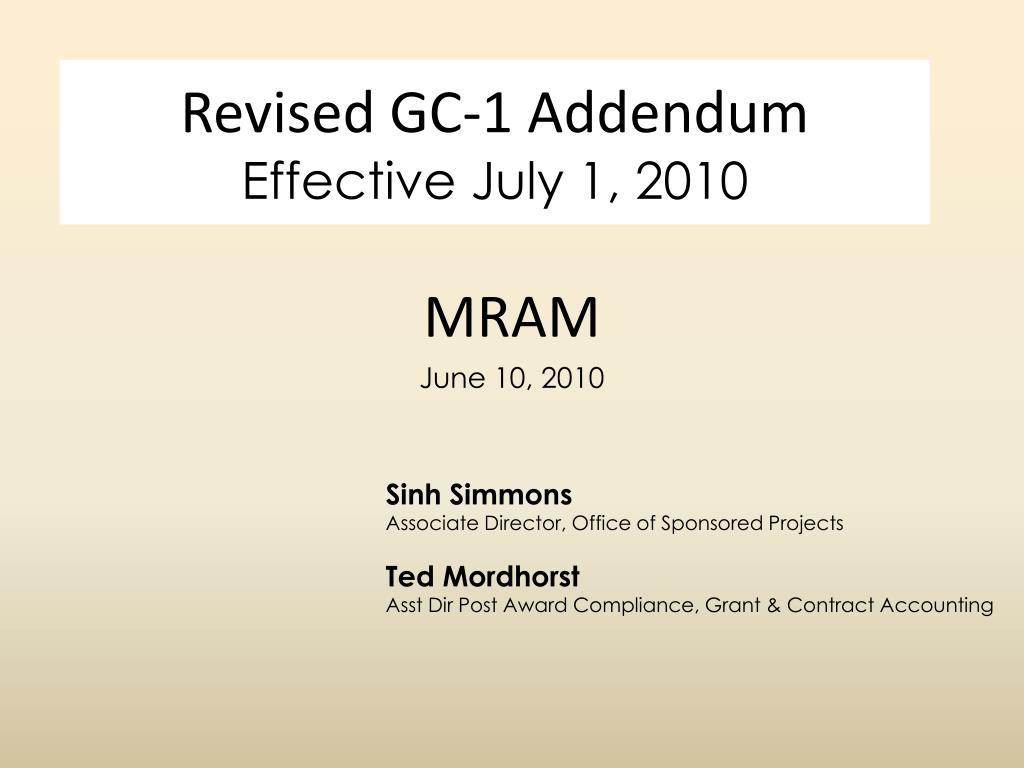 revised gc 1 addendum effective july 1 2010 l.