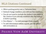 mla citations continued
