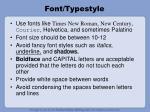 font typestyle