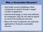 why a scannable resume