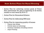 state action plans for rural housing