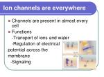 ion channels are everywhere
