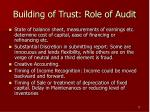 building of trust role of audit