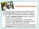 mathematics success
