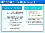 sip goals for high school