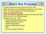 start the process