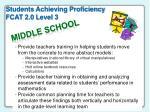 students achieving proficiency fcat 2 0 level 3