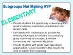 subgroups not making ayp