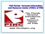 the florida parental information and resource center pirc of fnd