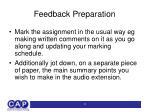 feedback preparation