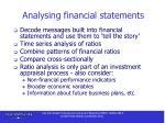 analysing financial statements
