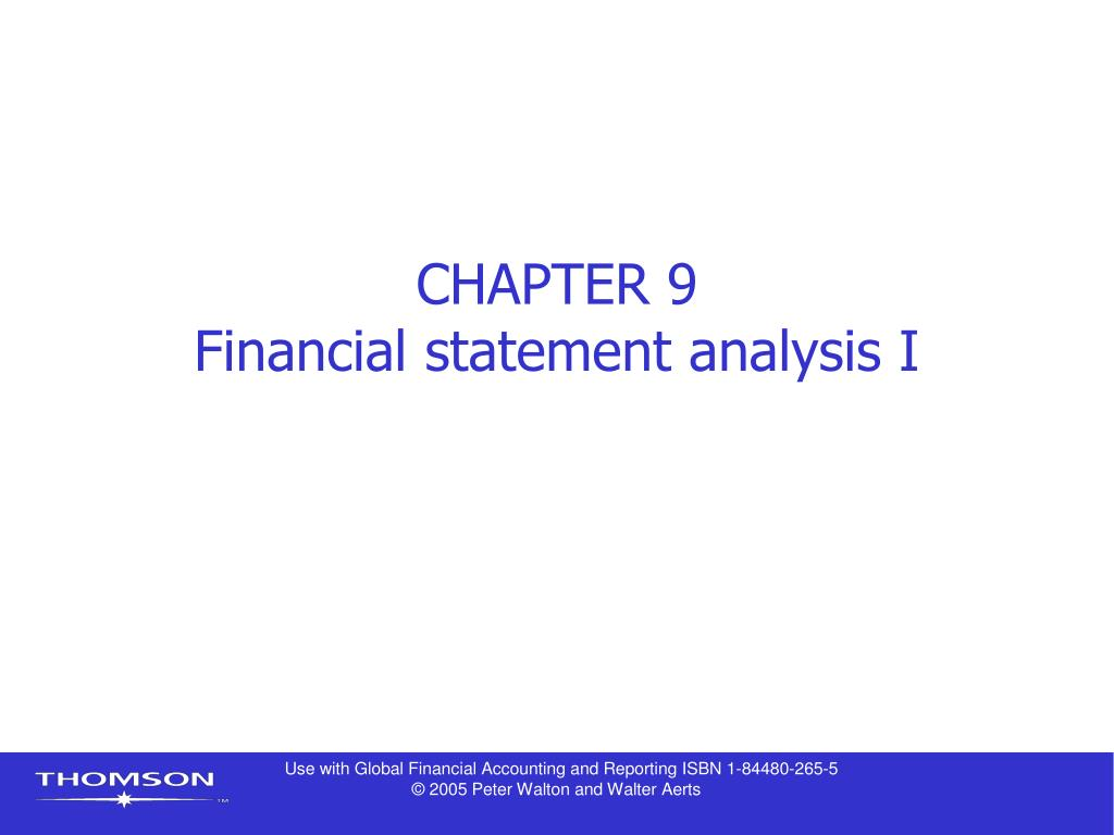chapter 9 financial statement analysis i l.