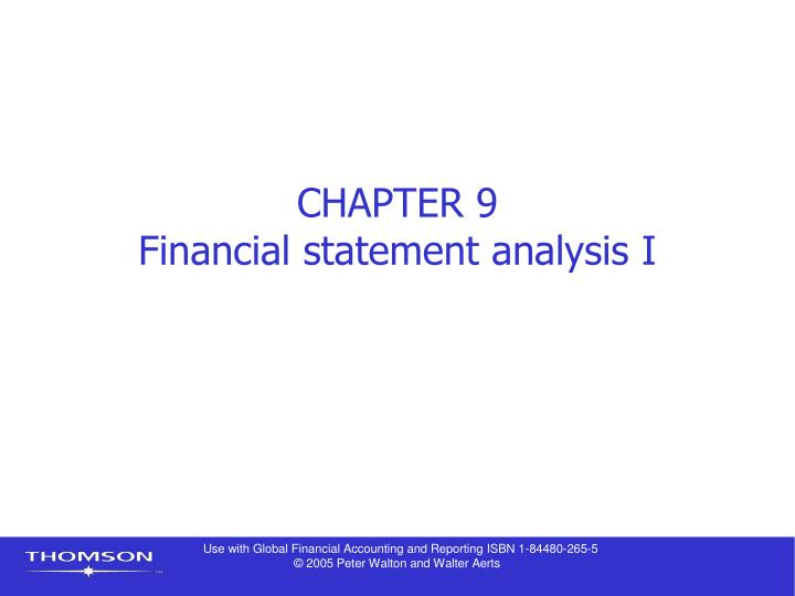 chapter 9 financial statement analysis i n.