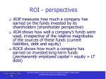 roi perspectives