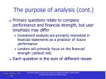 the purpose of analysis cont