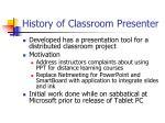 history of classroom presenter