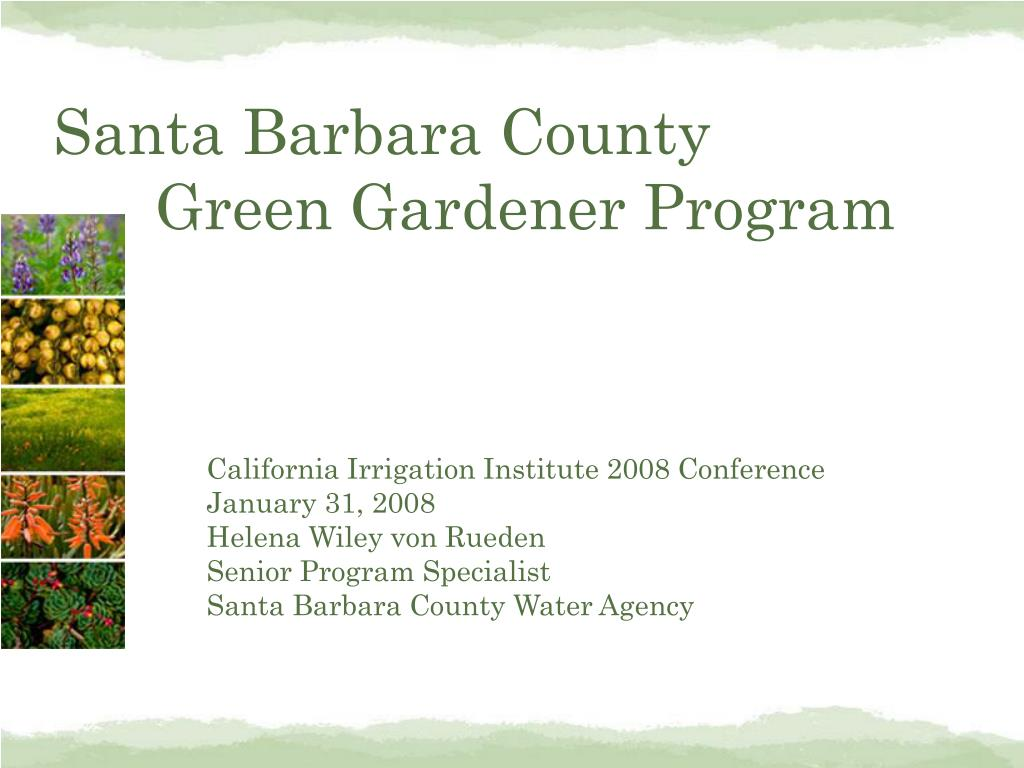 santa barbara county green gardener program l.